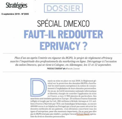 E-privacy Article de Stratégies avec Sylvain Staub