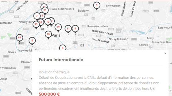 Sanction RGPD 500000€ pour manquement au RGPD - Futura Internationale