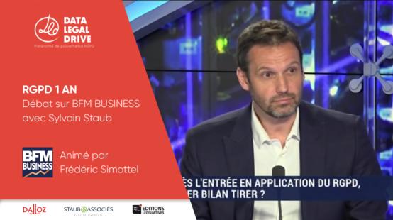 Sylvain Staub sur BFM TV pour les 1 ans du RGPD