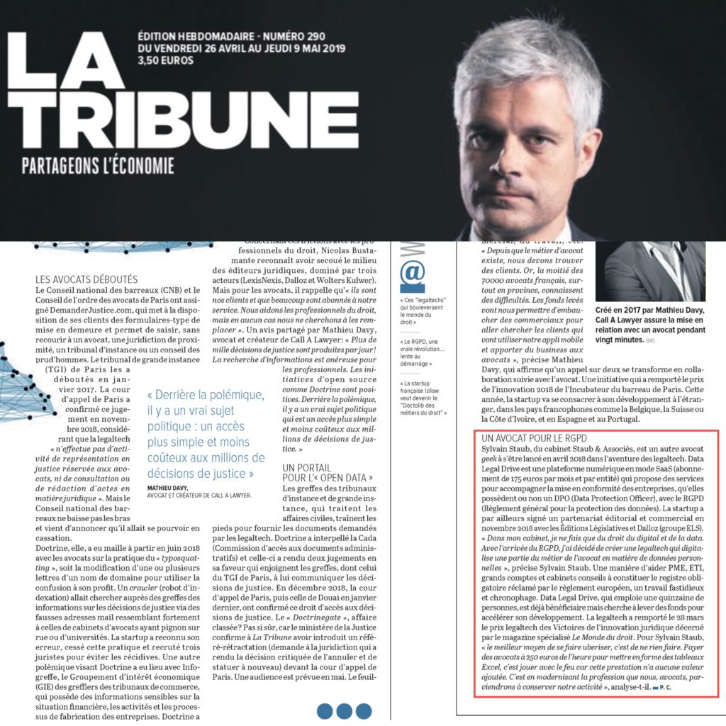 DLD dans la Tribune 09/05/2019