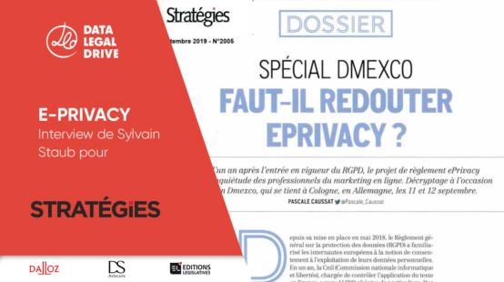 Sylvain Staub interviewé par Stratégies sur le thème de l'e-privacy