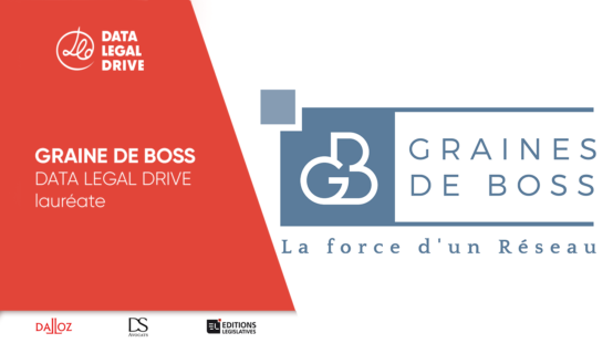 Graines de boss DATA LEGAL DRIVE lauréate