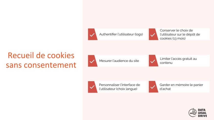 CNIL Cookies : Exemptés de consentement