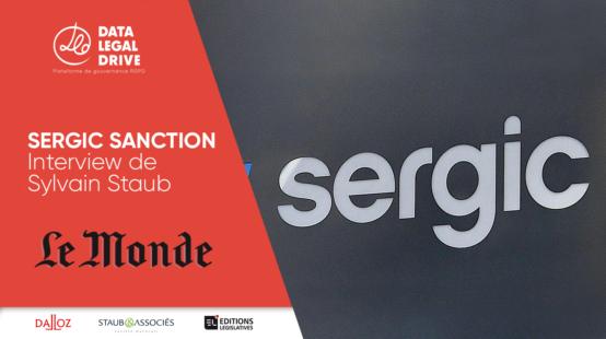 Interview de Sylvain Staub pour Le Monde à Propos de la sanction de Sergic
