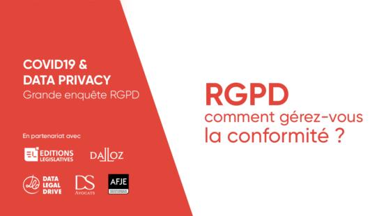 RGPD enquête spéciale COVID - AFJE - Editions Législatives - Dalloz - Data Legal Drive - DS Avocats
