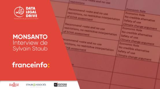 DATA LEGAL DRIVE pour Franceinfo : Pourquoi le fichage de données personnelles par Monsanto est illégal