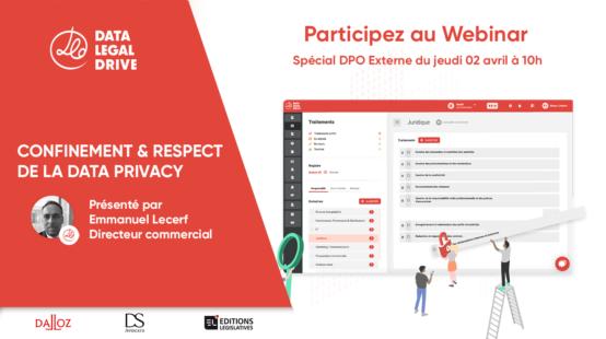 Participez au Webinar Spécial mise en conformité spécial DPO Externe